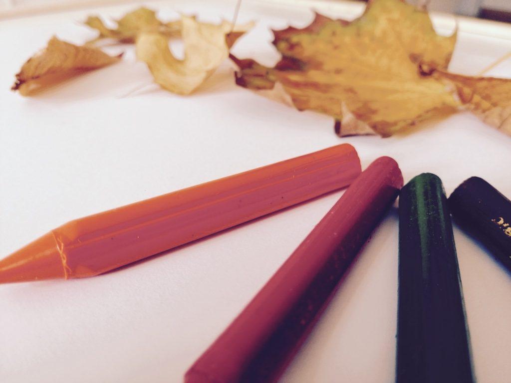 Herbstbild mit Kindern malen