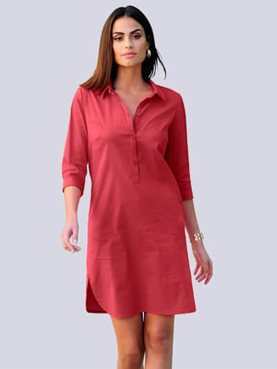 Blusenkleid in Rot